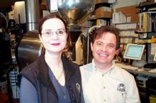 Mary Allen Linderman & Alan By Tom Flynn Spear, owners of Coffee by Design