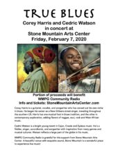Corey Harris and Cedric Watson in concert at Stone Mountain Arts Center on Friday, February 7, 2020 - part of the proceeds benefit WMPG!