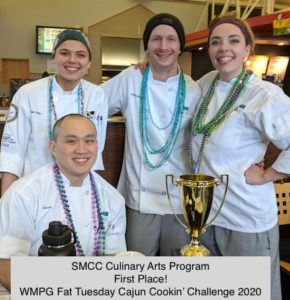 SMCC Culinary Arts Program 2020 WMPG Fat Tuesday Cajun Cookin' Champions
