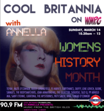 On Cool Britannia (Sunday morning10.30am), Annella celebrates women in music and the cultural contributions to music across recent decades.