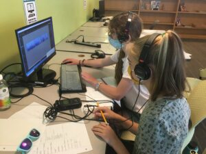 Photo from our youth program audio workshops at the Portland Library