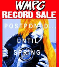 WMPG Record/CD sale postponed until spring due to covid